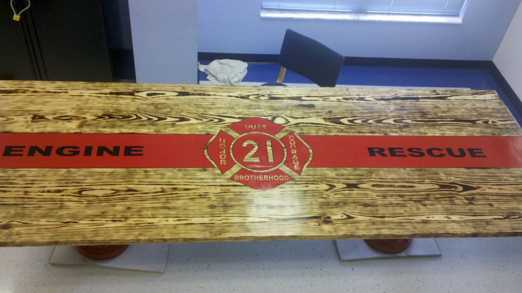 Another Custom Firehouse Kitchen Table Share Yours With The Fire Critic Fire Critic